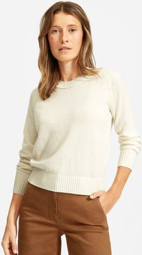 ReCashmere Vintage Crew Sweater by Everlane in Bone, Size XS