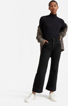 Button-Fly Wide Leg Jean by Everlane in Black, Size 32