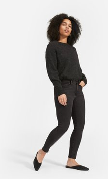 Authentic Stretch Mid-Rise Skinny by Everlane in Washed Black, Size 33
