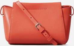 Micro Leather Messenger Bag by Everlane in Red