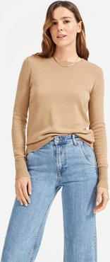 Cashmere Crew Sweater by Everlane in Camel, Size S