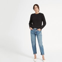 Relaxed Boyfriend Jean by Everlane in Vintage Distressed Blue, Size 27