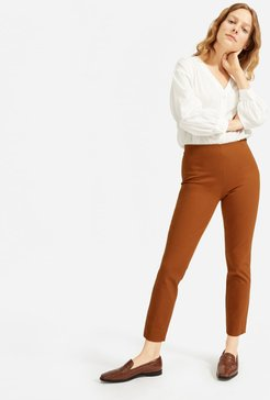 Side-Zip Work Pant by Everlane in Cocoa Brown, Size 6
