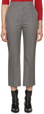 Grey and Black Check Cigarette Trousers