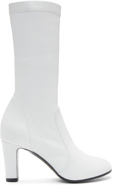 White Low Stretch Boots