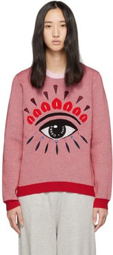 Pink and Red Eye Sweater