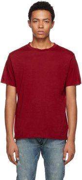 Red Cotton and Cashmere T-Shirt