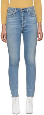 Blue Olivia High-Rise Slim Ankle Jeans