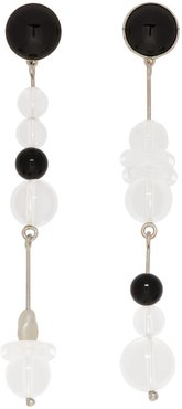 SSENSE Exclusive Black and White Playsway Earrings