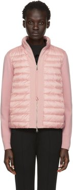 Pink Knit and Down Jacket