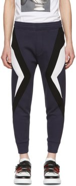 Navy and Black Stripe Lounge Pants