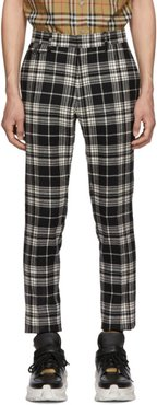 Black and White Check Serpentine Trousers