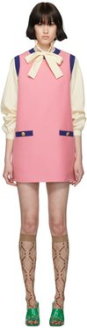 Pink and Blue Bicolor Mini Dress