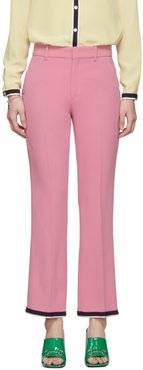 Pink Bootcut Trousers