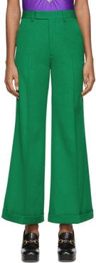 Green Wool Ankle Trousers