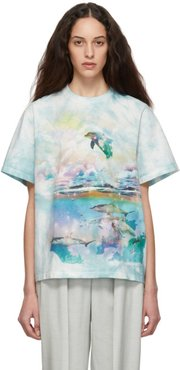 Blue and White Dolphin T-Shirt