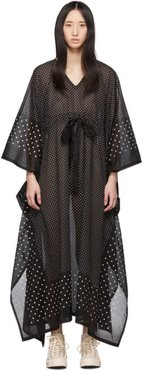 Black Kaftan Dots Dress