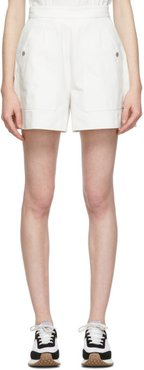 White Twill Full Shorts