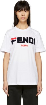 White Fendi Mania T-Shirt
