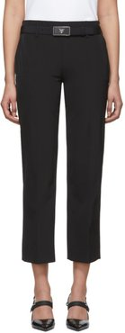 Black Square Belt Trousers
