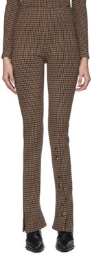 Beige and Brown Gingham Kioto Rave Trousers