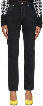 Black Liya High-Rise Classic-Fit Jeans