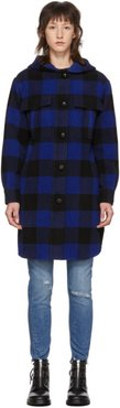 Black and Blue Check Beck Coat