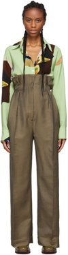 Taupe Perrie Suit Trousers
