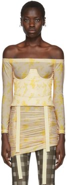 Beige and Yellow Corset Top