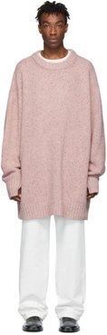 Pink Oversized Crewneck Sweater