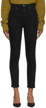 Black The High Rise Slim Jeans
