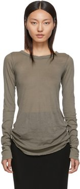 Grey Rib Long Sleeve T-Shirt
