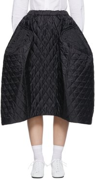 Black Quilted Large Skirt