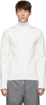 White Flyer Patch Turtleneck Sweater