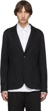 Black Double-Faced Jersey Blazer