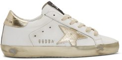 White and Gold Superstar Sneakers