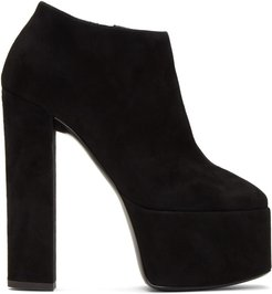 Black Suede Kanda Ankle Boot