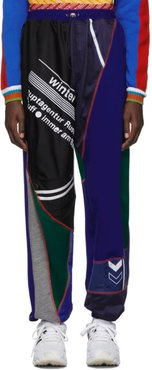 Blue and Green Patchwork Jogger Lounge Pants