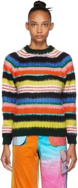 SSENSE Exclusive Multicolor Brushed Mohair Striped Sweater
