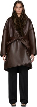 Brown Cropped Cocoon Coat