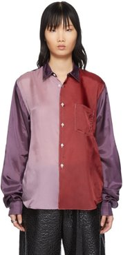 Purple and Red Colorblock Shirt