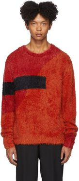 Red and Orange Modernist Fluffy Easy-Fit Sweater