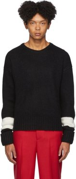 Black Wool and Alpaca GG Easy-Fit Sweater