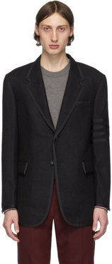 Black Wool 4-Bar Blazer