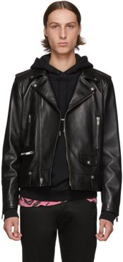 Black Classic Leather Motorcycle Jacket