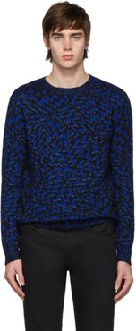 Black and Blue Lurex Storms Sweater