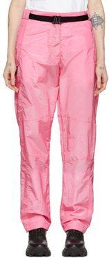 Pink Belted Loose Fit Trousers