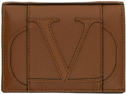 Brown Valentino Garavani Small VLogo Bifold Wallet