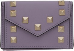 Purple Valentino Garavani Small Rockstud Wallet