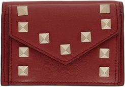 Red Valentino Garavani Small Rockstud Wallet